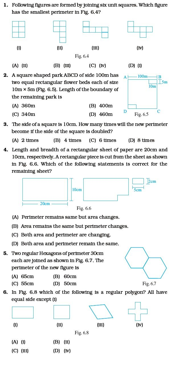 Mensuration Math Worksheet Grade 6 Math Worksheets Math