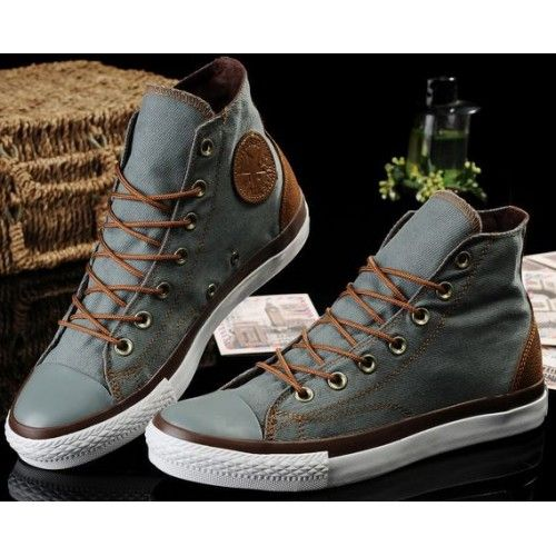 598204e93a70 Converse Shoes Blue Chuck Taylor Vampire Mens Womens Canvas Leather Hi  Sneakers