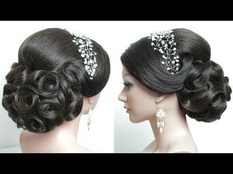 Indian Bridal Hairstyle Tutorial Wedding Updo For Long Hair