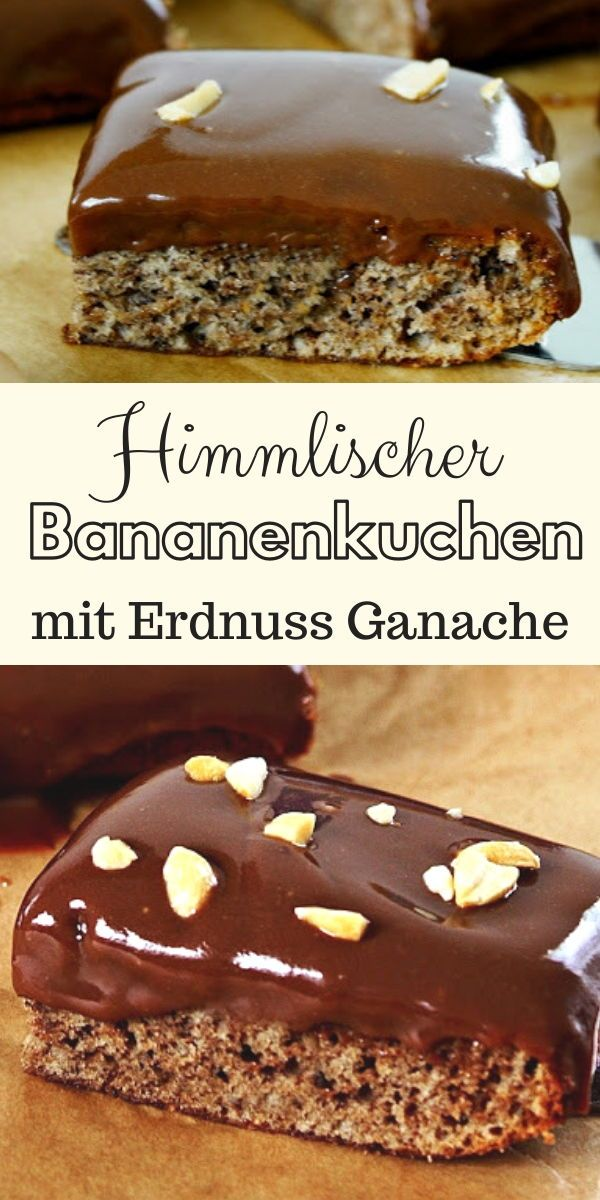 Photo of Banana cake with peanut butter chocolate ganache