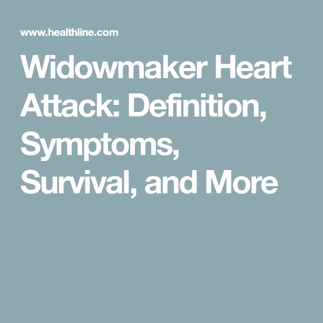 widowmaker symptoms