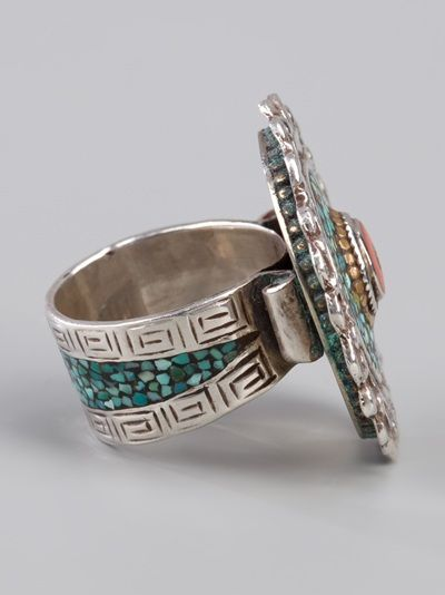 I-LUNGA  TURQUOISE CORAL RING