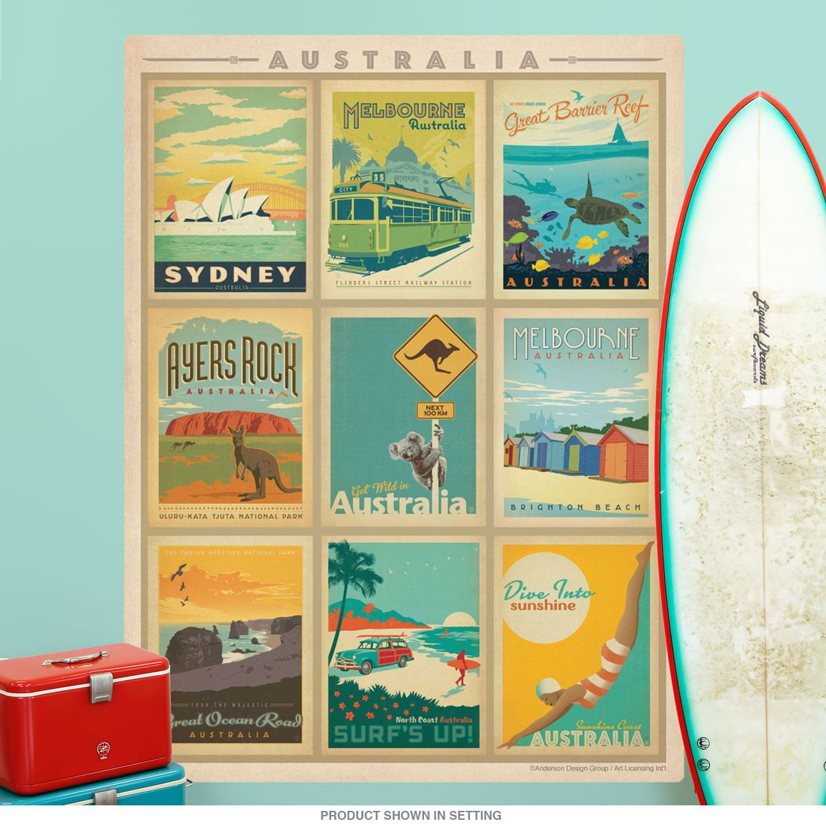 Vintage Australia wall decal for a home, office or restaurant. Made ...
