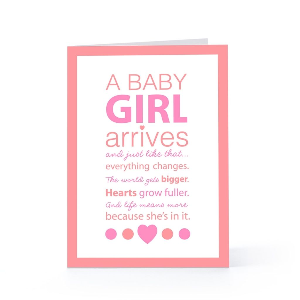 Quote For New Baby Girl Ba Girl Card Quotes Pinterest Baby