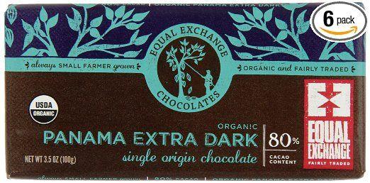 Equal Exchange Organic Panama Extra Dark Chocolate 3 5 Ounce Pack Of 6