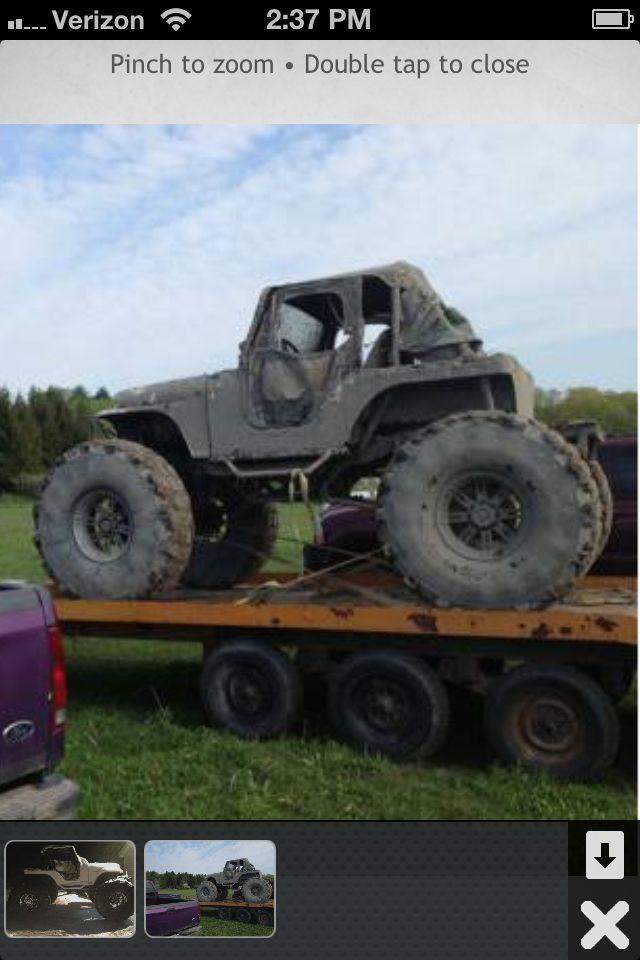 Fiberglass Cj 5 Monster On 53 In Michillin Military Tires 360 3