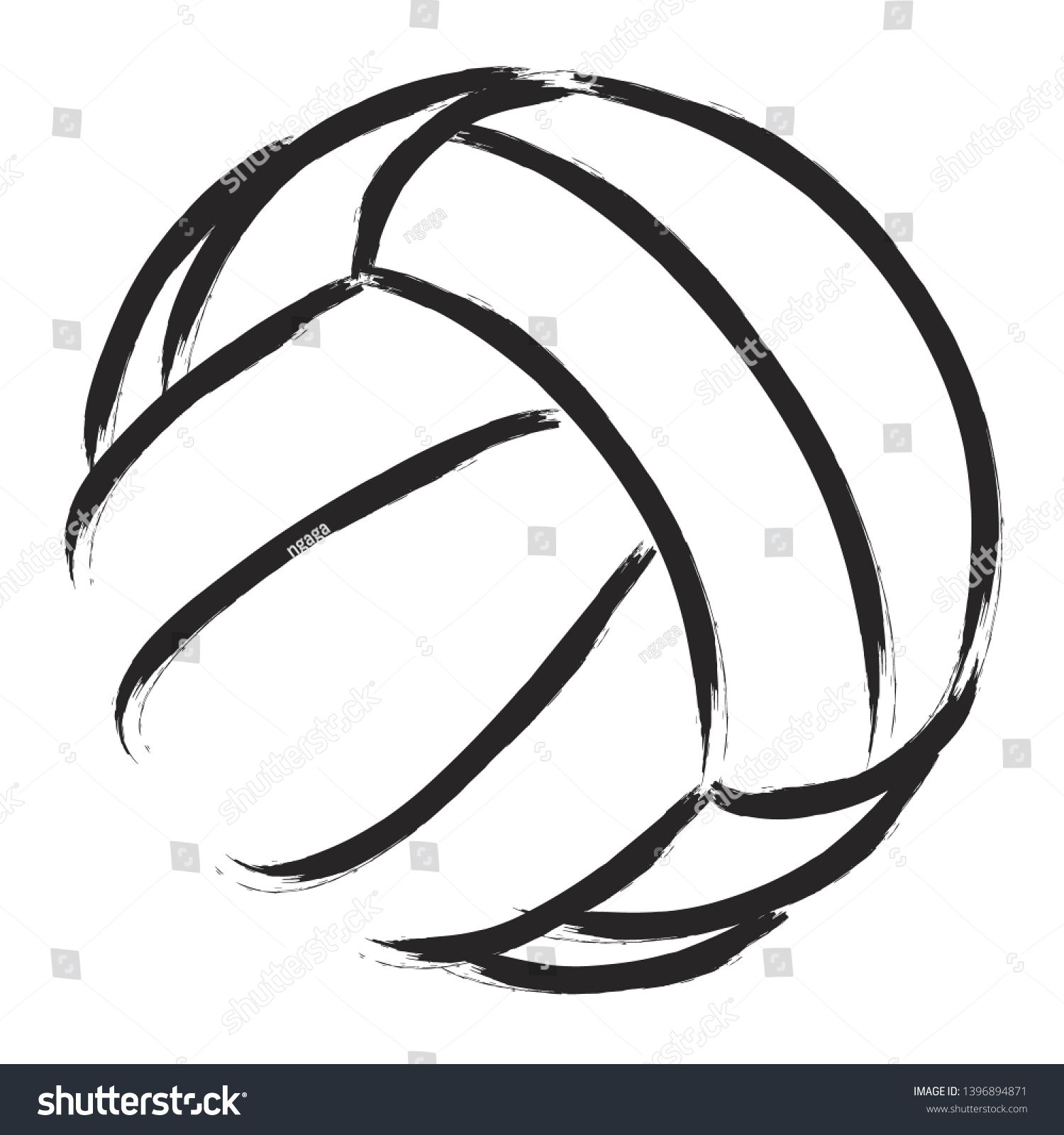 Stylized Illustration Of A Volleyball Background Sport Vector Ad Sponsored Volleyball Illustra Volleyball Backgrounds Graphic Design Poster Illustration