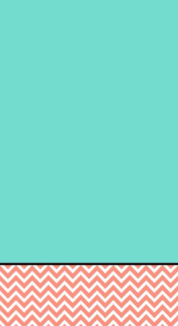 Coral Chevron Jade Green Iphone Wallpaper Background Phone Lockscreen Fundos Papel De Parede Zigue Zague
