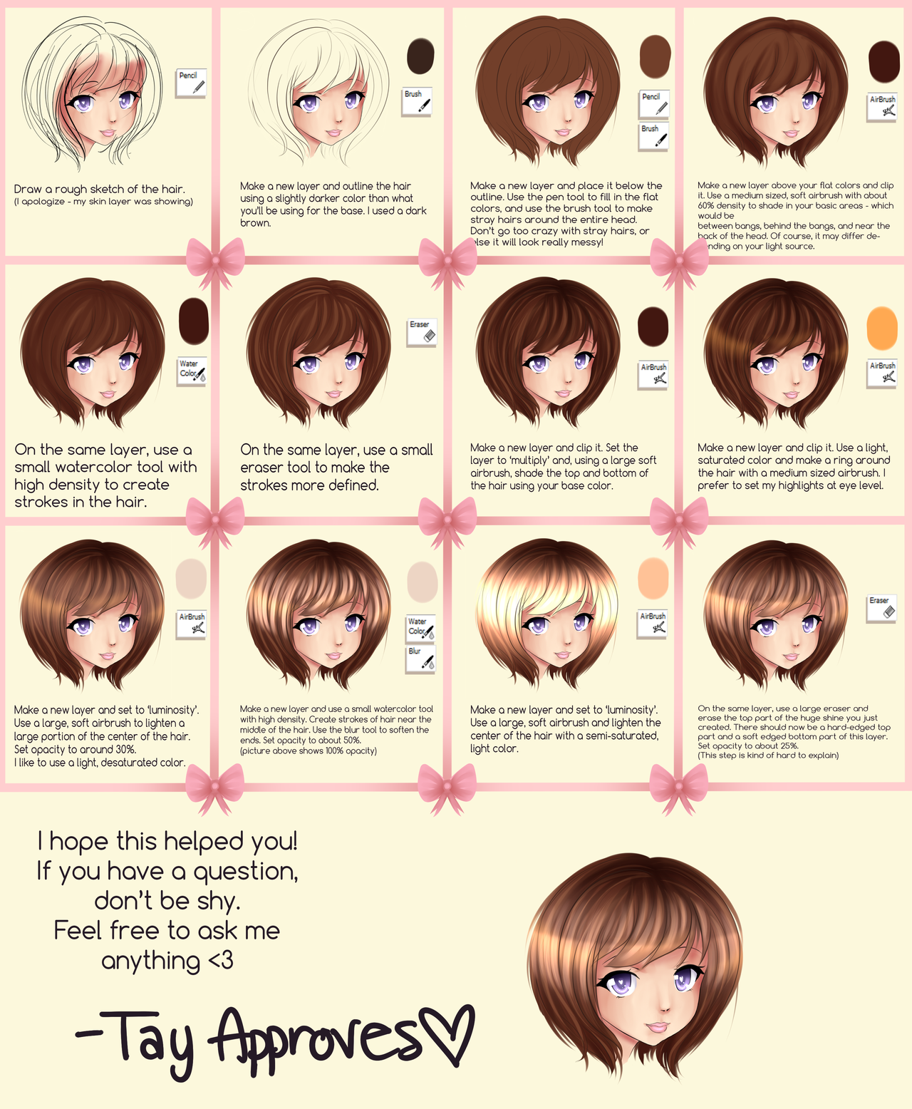 Sai Hair Tutorial By Iseanna On Deviantart Chibi Hair Hair Tutorial How To Draw Hair