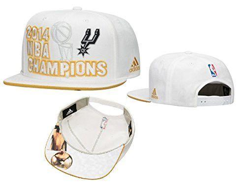 fc99cba4f9c San Antonio Spurs adidas 2014 NBA Finals Champions Locker Room Snapback Hat  - White