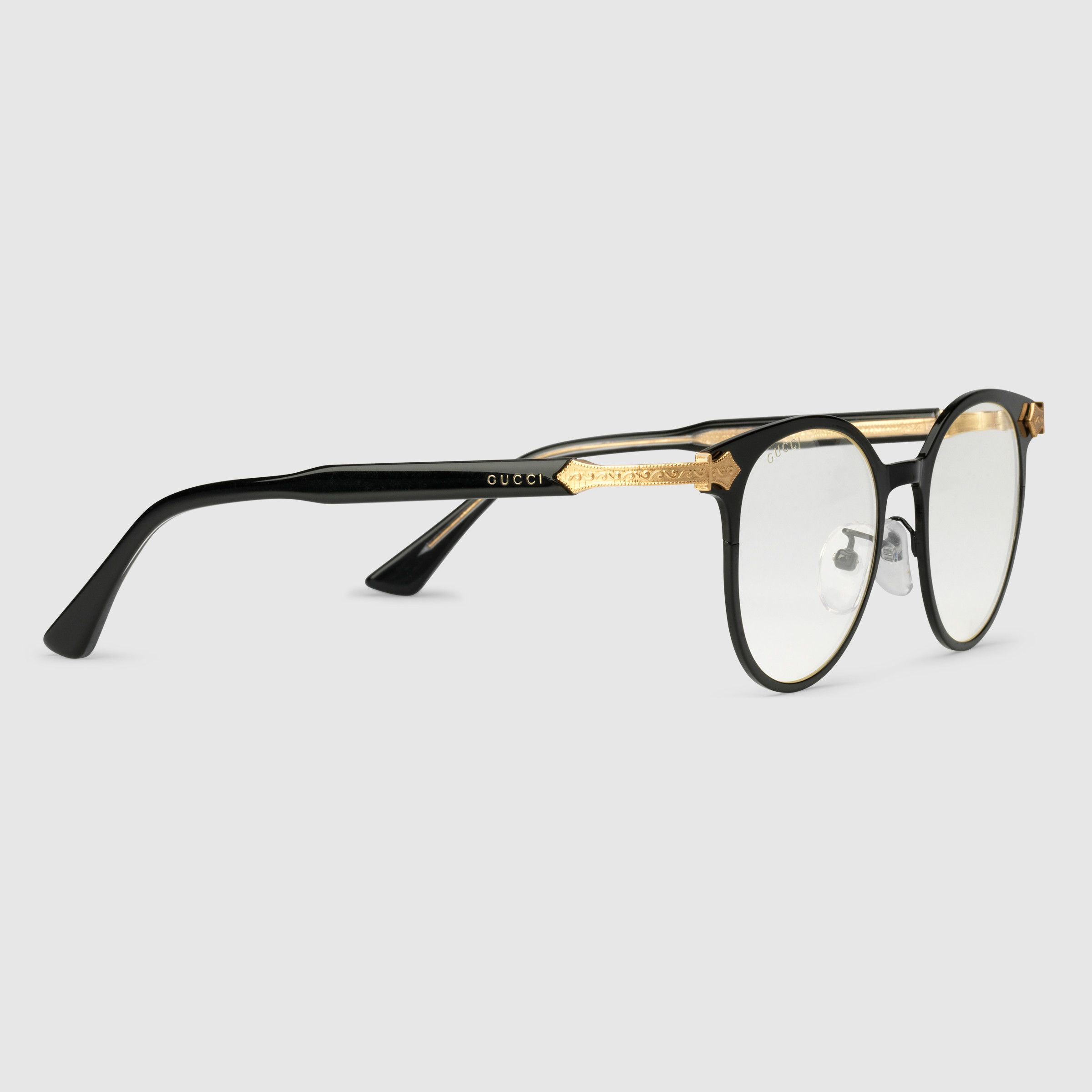 Gucci Round-frame glasses - Sale! Up to 75% OFF! Shop at Stylizio for  women s and men s designer handbags, luxury sunglasses, watches, jewelry,  purses, ... bfa295a57e