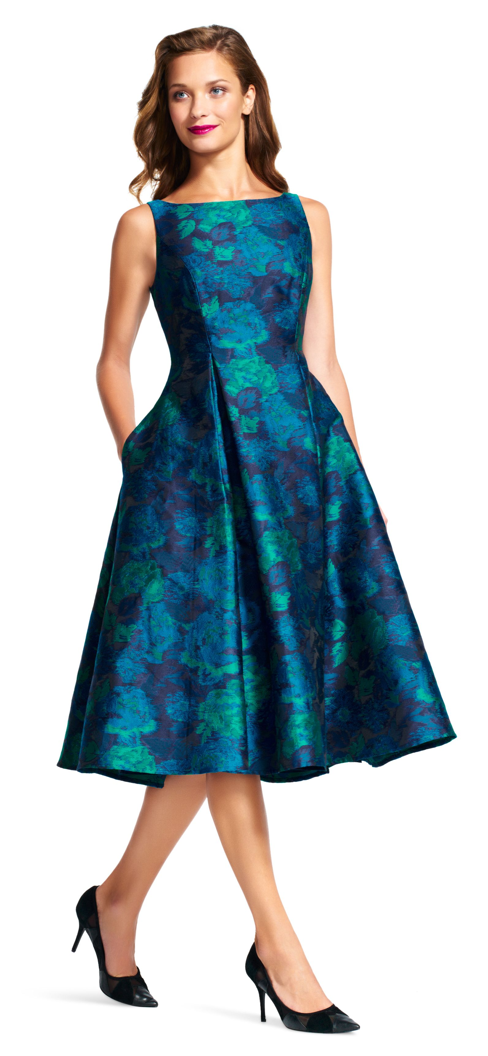 From Cocktail Parties To An Evening Out This Knee Length Party Dress Is Ready To Play This Mi Knee Length Dresses Formal Tea Length Dresses Best Prom Dresses