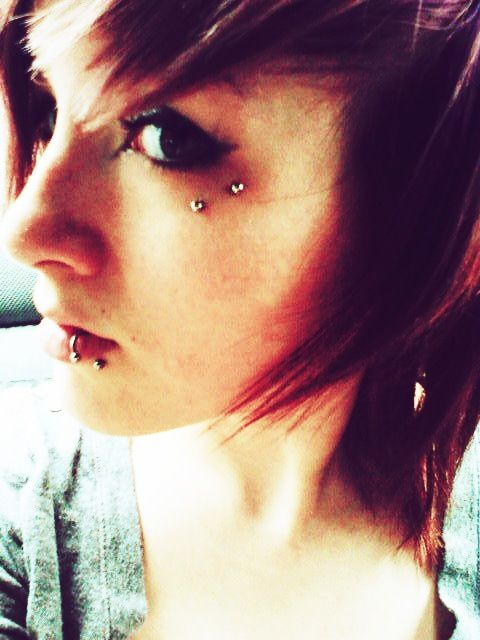 Anti eyebrow piercing- don't think i could do it but i love it.
