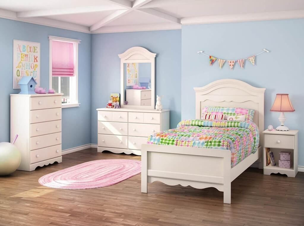 Best Toddler Girls Bedroom Sets Ideas With Light Blue Bedroom Wall ...