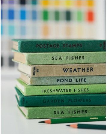 Vintage green books