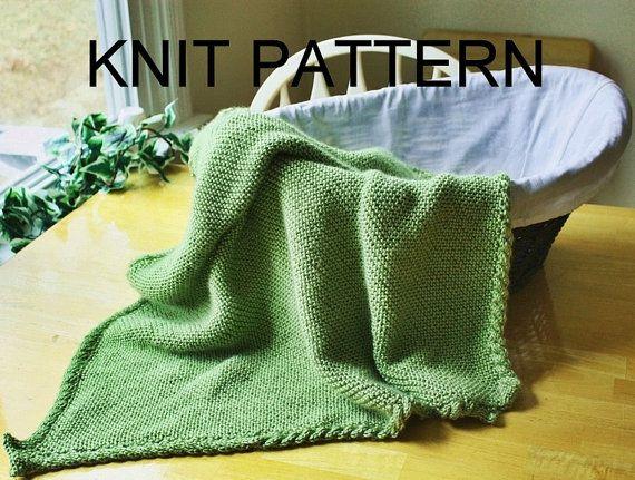 Knit stroller blanket pattern - knit baby blanket pattern - knit ...