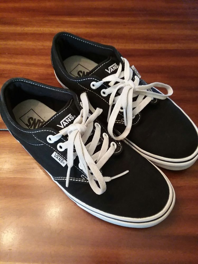 412d4a524077a Womens Vans Off The Wall Low Top Shoe Style TC9R Black size 9.5 ...