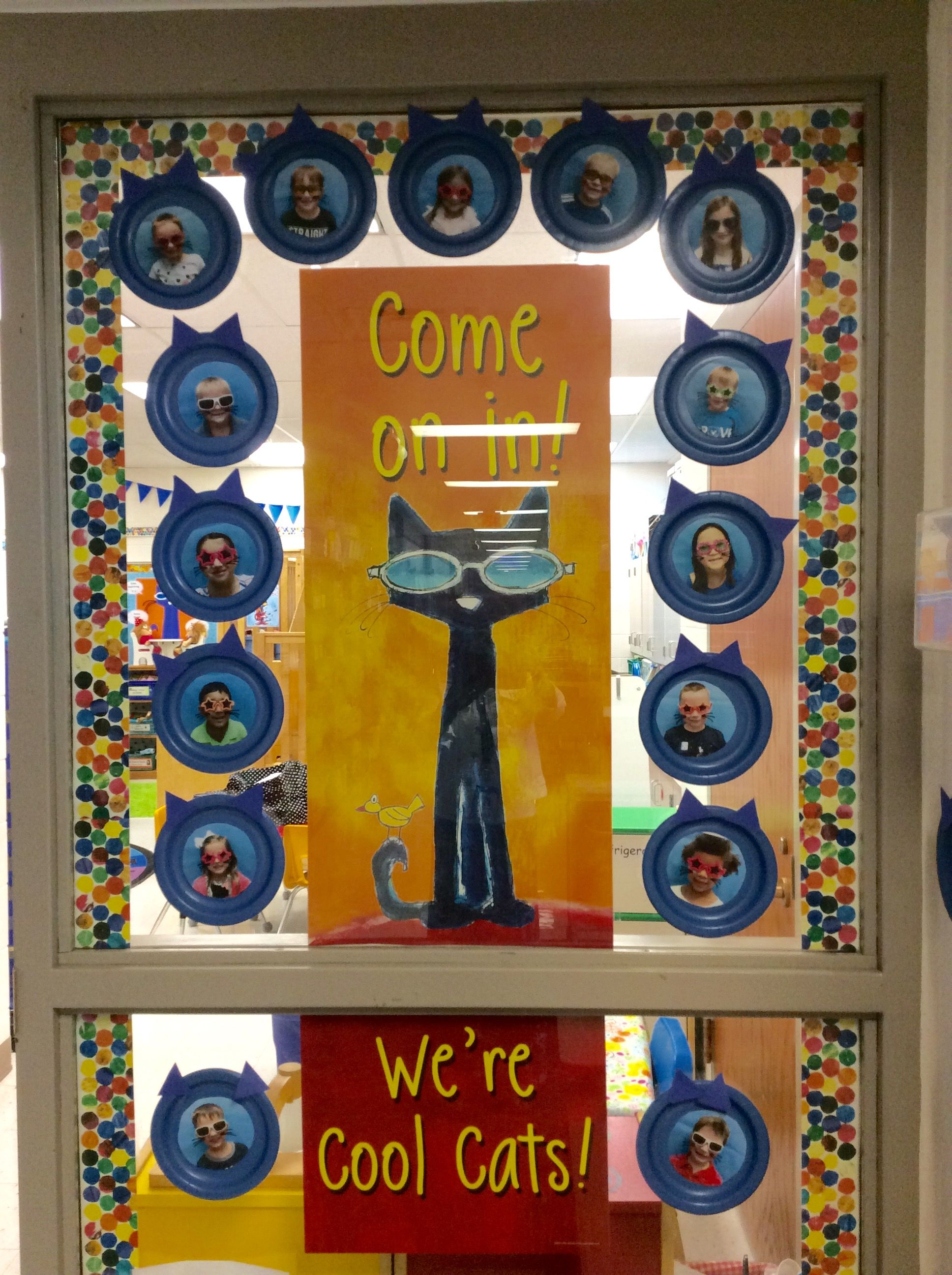 Pete The Cool Cats Welcome Window