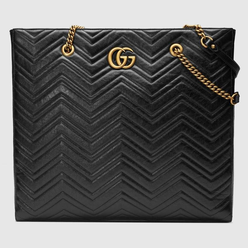 34fde07f41d2 Shop the GG Marmont matelassé large tote by Gucci. Inspired by the Running  G belt