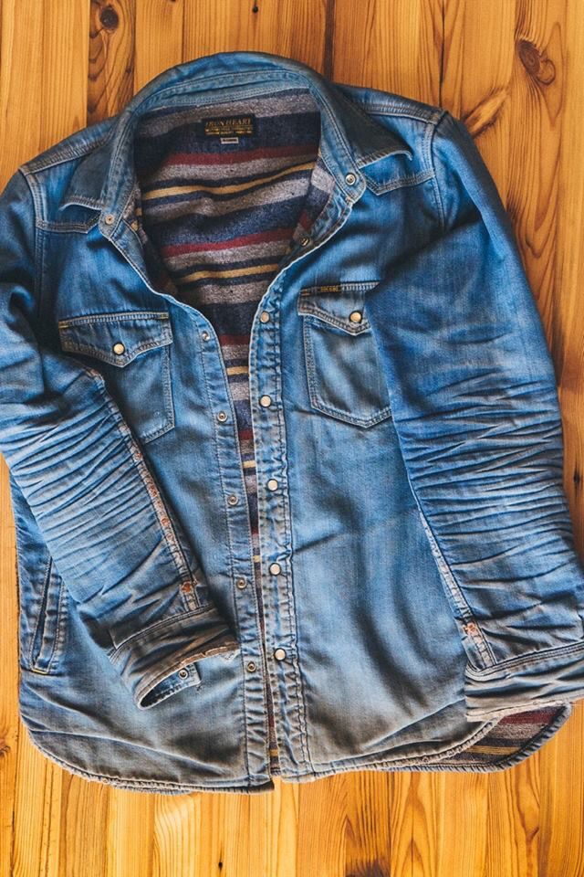Iron Heart Denim Shirt Men, Blue Denim Jeans, Raw Denim, Vintage Denim, e2c76912ee