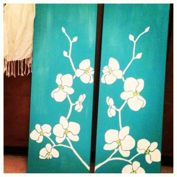 Diy Canvas Art You Are Here Home Diy Diy Orchid Canvas