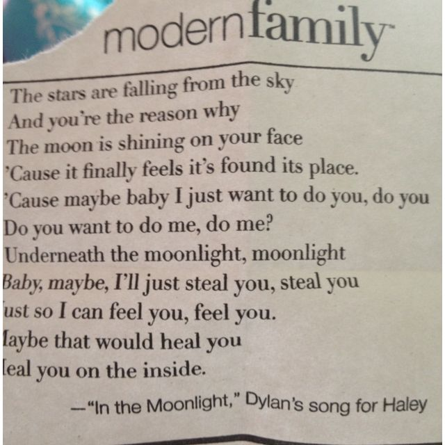 Pin By Abby Greenbaum On Love It 3 Modern Family Quotes Dylan Songs Modern Family Haley