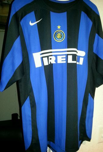 pretty nice 10793 55088 Nike Inter Milan Replica Home Jersey 2004-2005 Size Medium ...