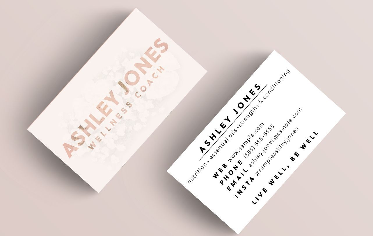 Simple And Pretty Business Card Ideas That Are Both Professional And Girly Find Your Style And Sho Pretty Business Cards Custom Business Cards Find Your Style