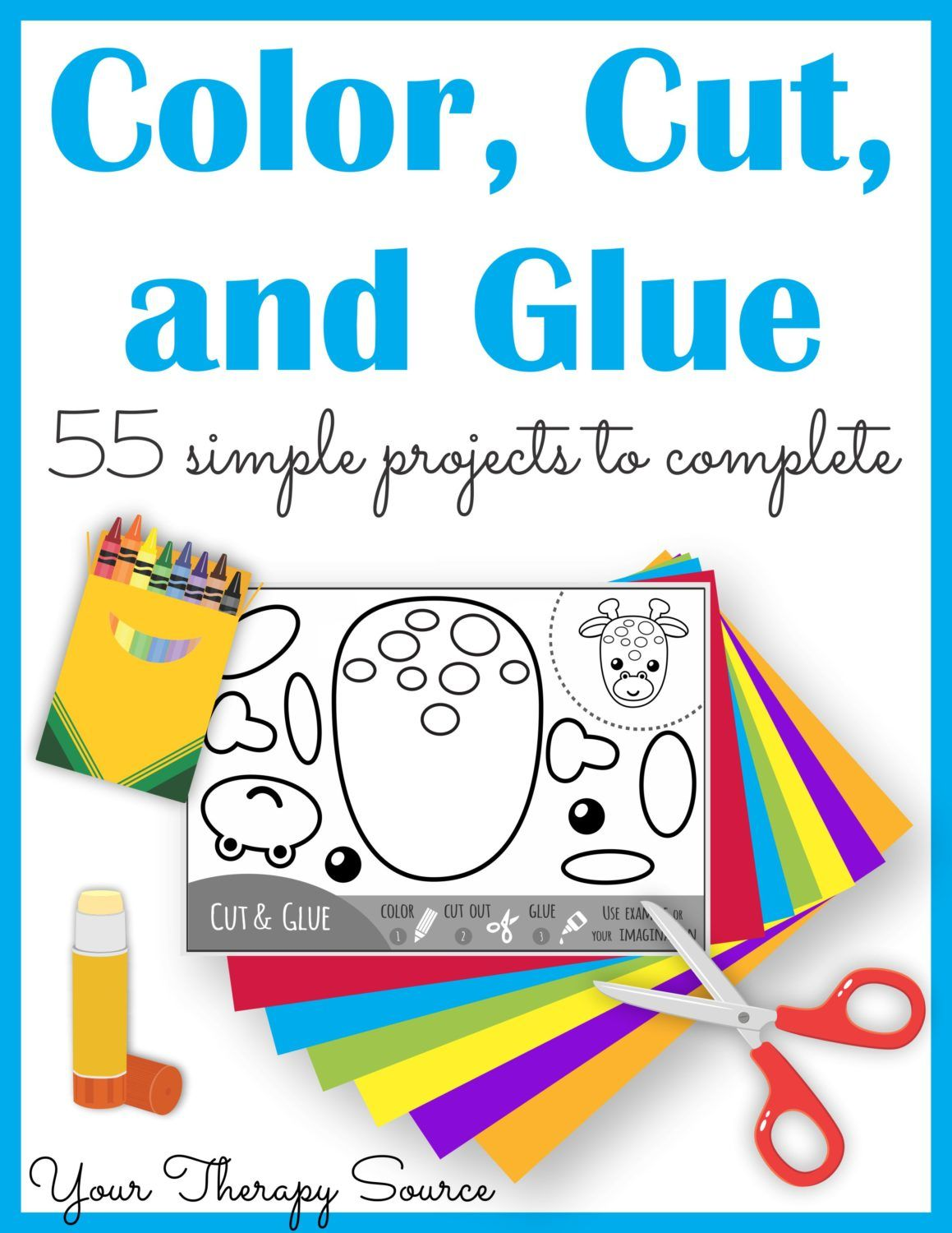 Color Cut And Glue Complete Packet