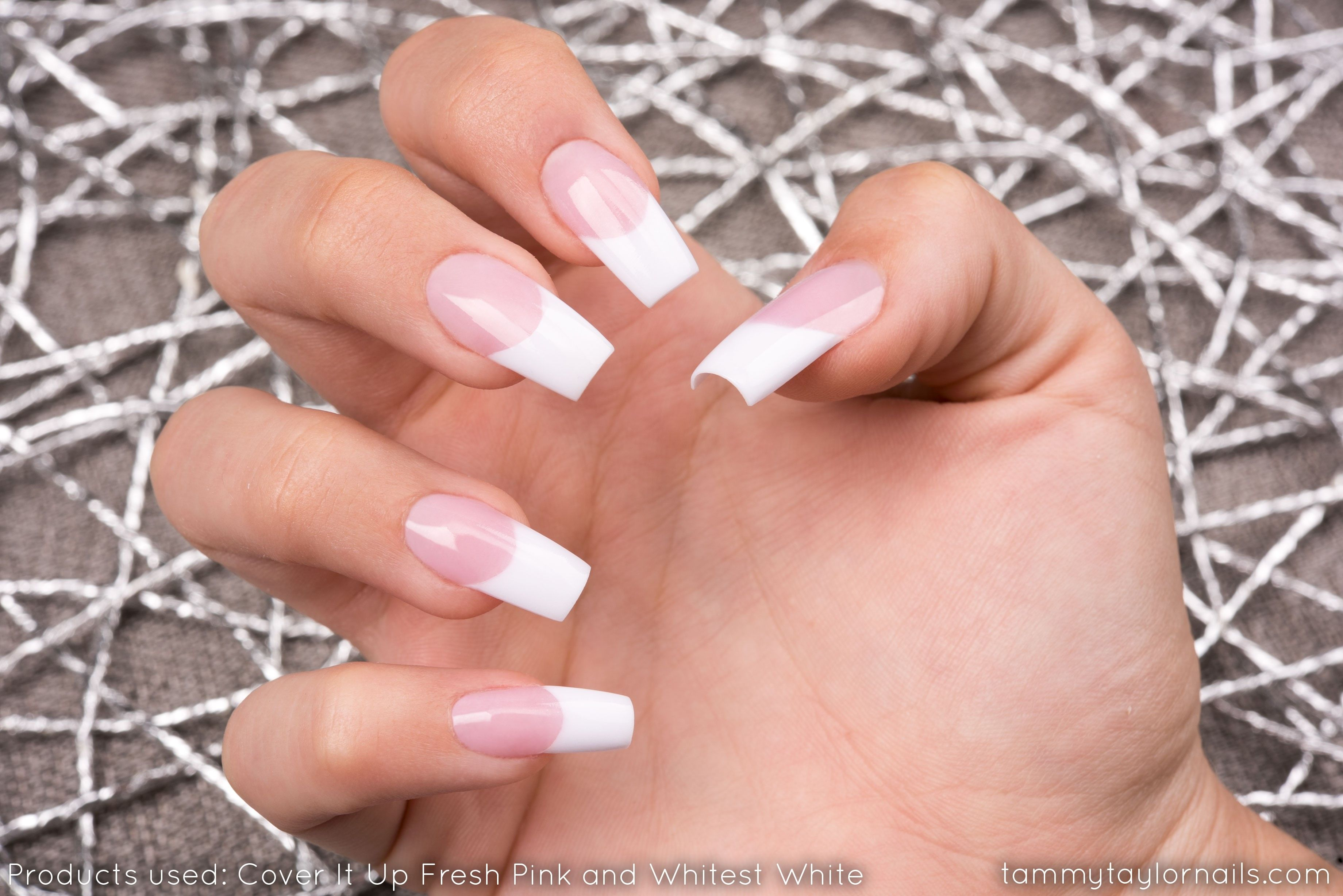 Pink And Whites By Tammy Taylor On A Nail Biter Tammy Taylor Nails Sculptured Nails Nails