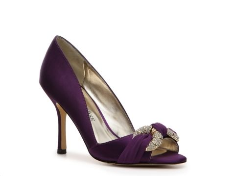 539ffab49d5 Audrey Brooke Adel Satin Pump...the perfect purple shoe ! I have these in  champagne and they re really comfortable
