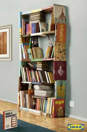 Bücherregal mit büchern hochkant  Billy mal anders: Das Bücherregal aus Büchern | Wohnideen ...