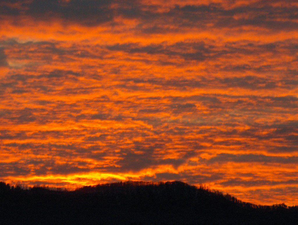 Abendrot Wolken 2
