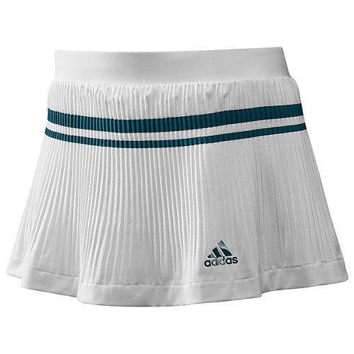 Adidas 12 Women S Adipure Skort White Craft Emerald Clothing Impulse Tennis Fashion Tennis Clothes Adidas Women