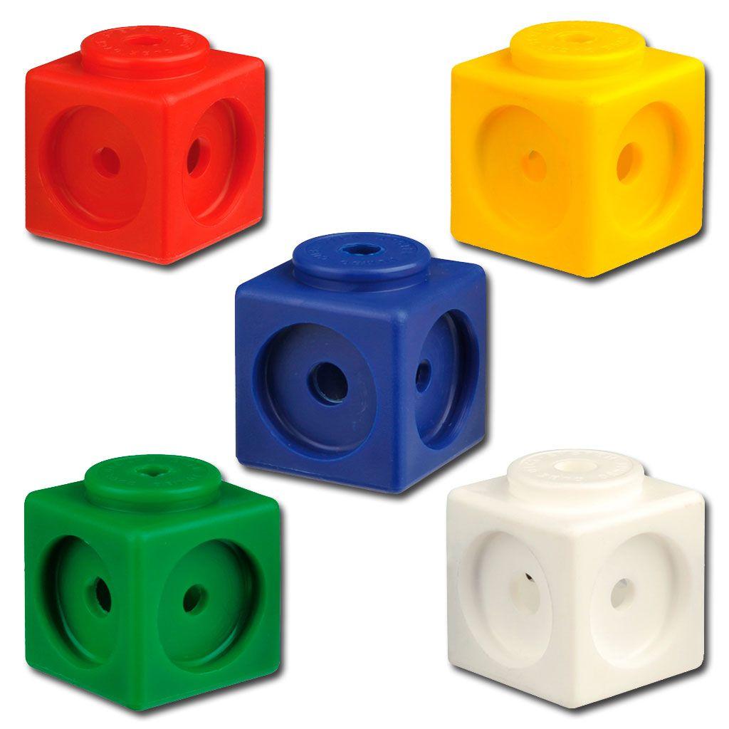Steckwurfel 100 Stuck In 5 Farben Lieferbar Wiemann Lehrmittel