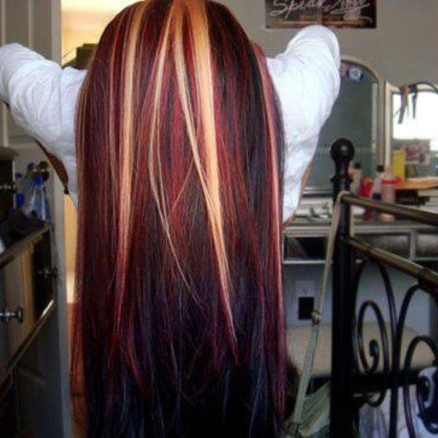 Blk red and blonde.... My next hair color