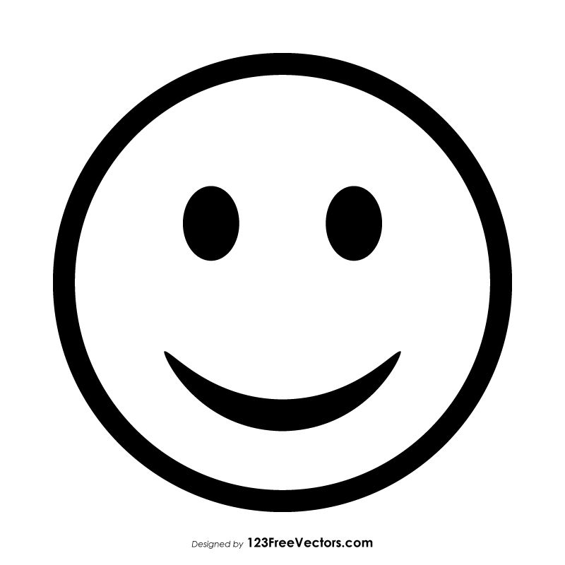 Smiley Emoticons Outline With Images Emoticon Smiley Outline