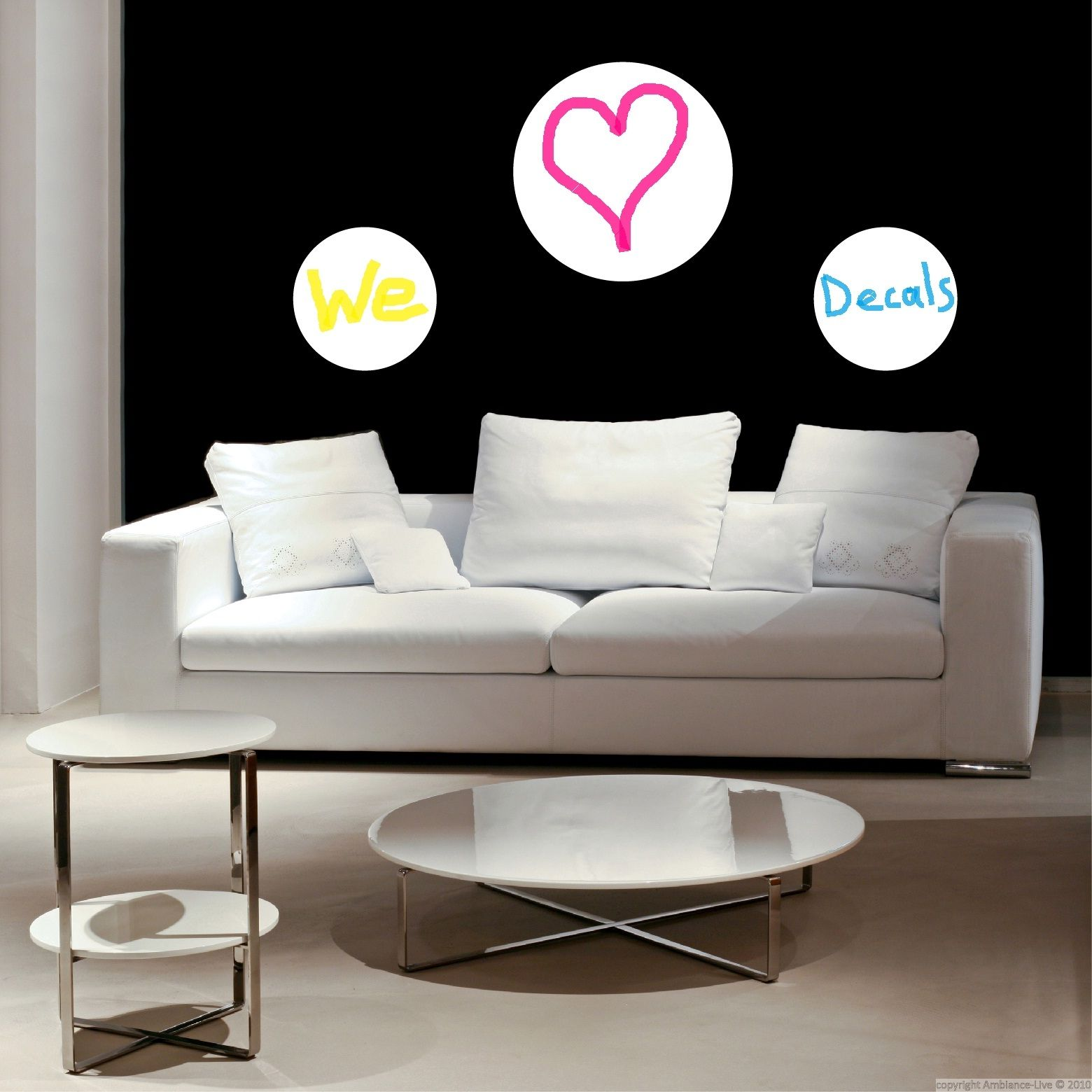 This Circles Whiteboard Sticker Is Made To Write With Removable - Wall decals you can write on