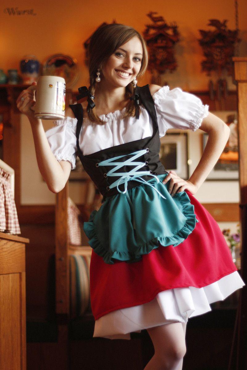 Sehr german-dirndl-dress-halloween-oktoberfest-beermaid-barmaid-costume  BN13