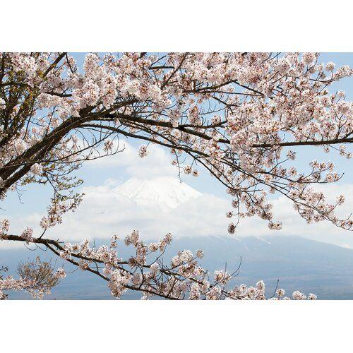 Tapete Kirschblüten Papier 2.54 m x 368 cm East Urban Home #naturallandmarks