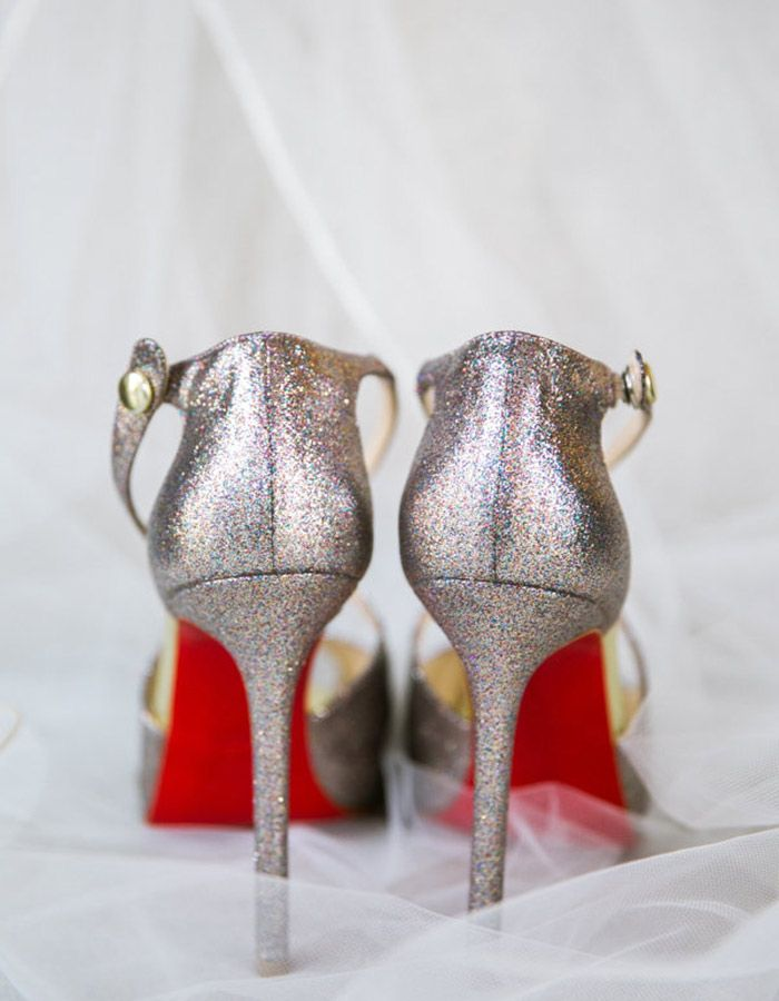 Add Some Sparkle To Your Wedding By Wearing These Shimmery Shoes At Reception