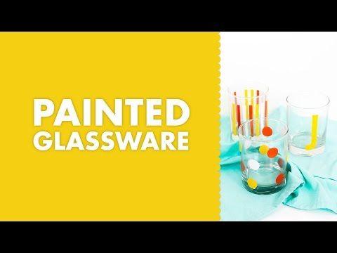 Sarah Hearts - DIY Stencil Painted Glassware Silhouette tutorial
