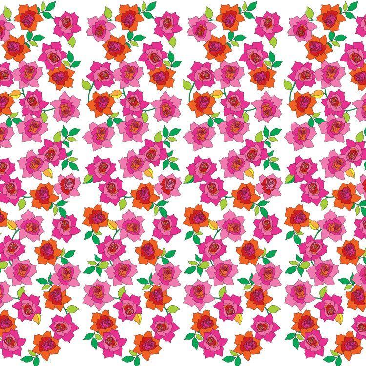 WallCandy - French Bull Rose Temporary Wallpaper at ...