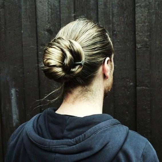 A Manly Updo With A Nail For A Hairpin Long Hair Styles Long Hair Styles Men Mens Hairstyles