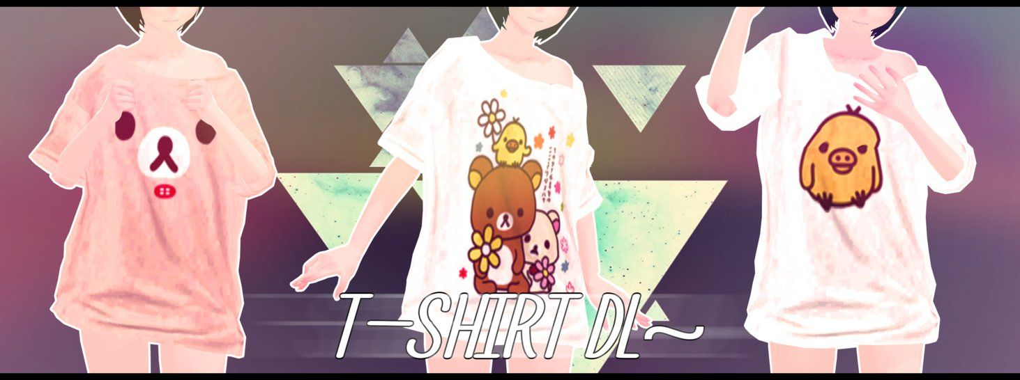 Mmd Part T Shirts Crooked Collar Dl By Nagai Maro