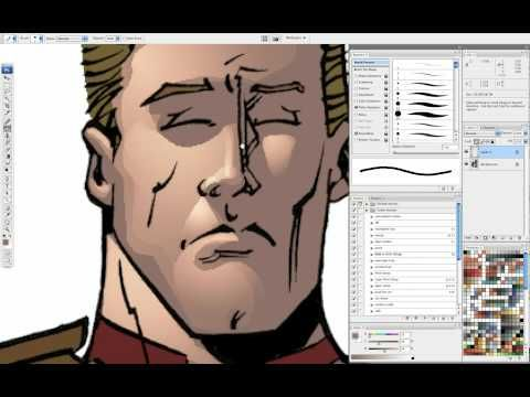 comic book coloring tutorial cuts and gradients part 1 youtube - Comic Book Coloring