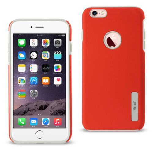 Reiko Iphone 6/6S Plus5.5Inch Armor Dual Layer Protective Case Red With Shock Absorbing Technology