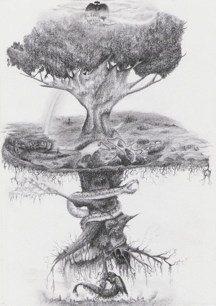 Yggdrasil By Dwarfeater On Deviantart Tree Of Life Artwork Tree Of Life Tattoo Yggdrasil Tattoo
