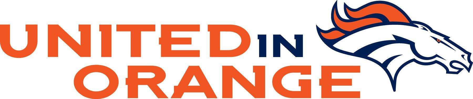United In Orange. Go Broncos! Take us to the Super Bowl