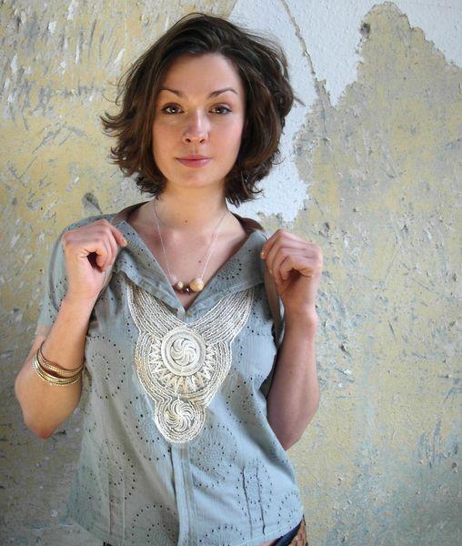 bluse aqua von unanova®  auf DaWanda.com